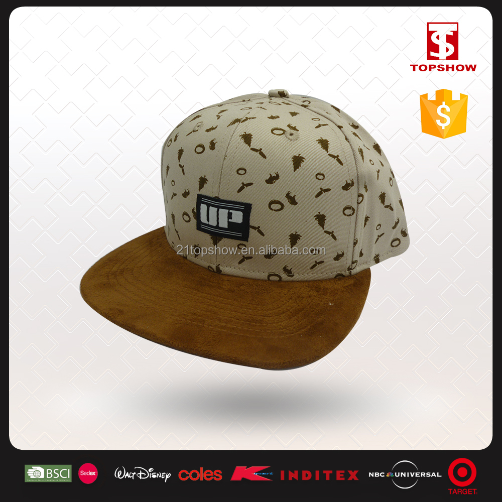 Topshow summer design export to korea snap-back custom 6 panel hats