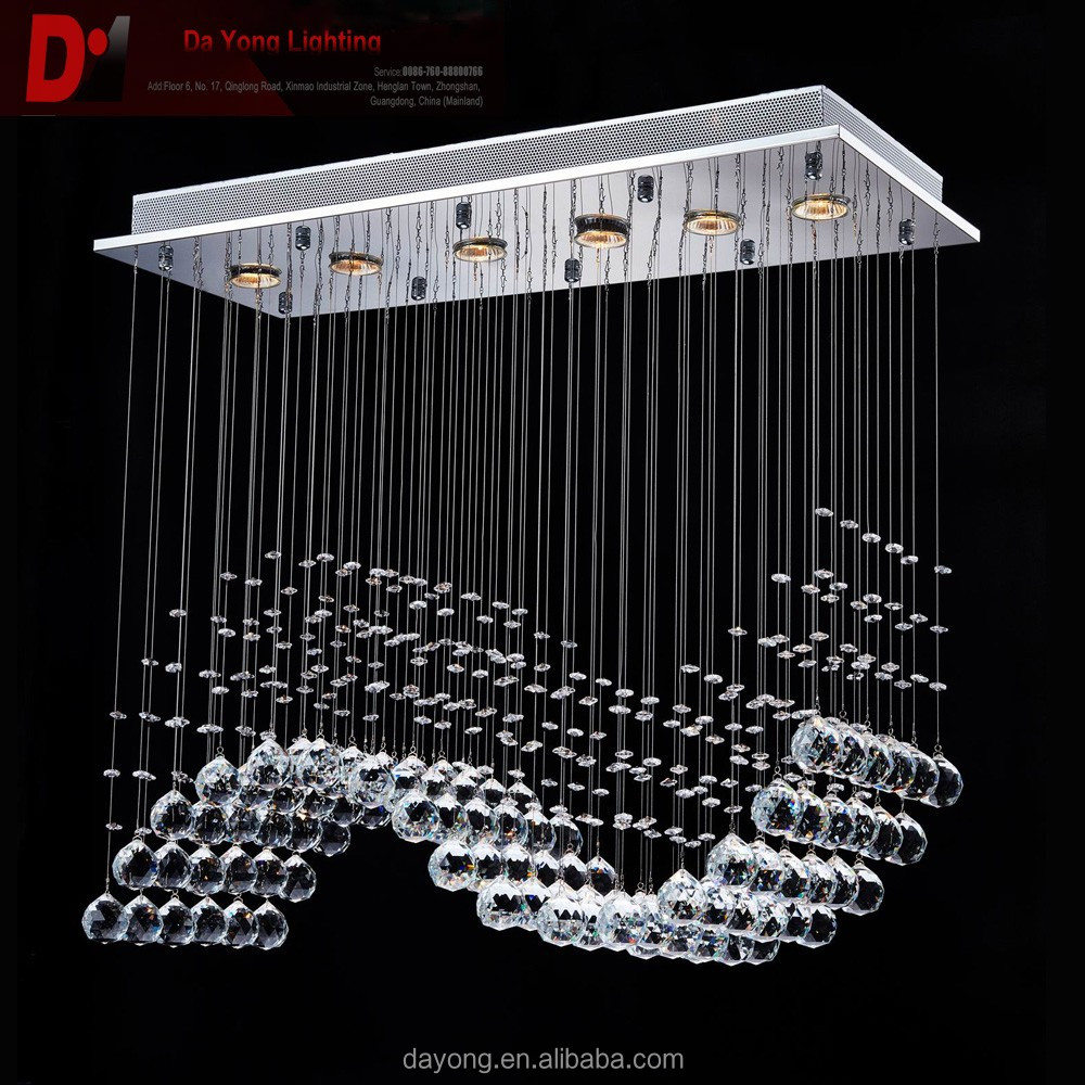 New Design Crystal Wave Chandelier lights &amp lighting