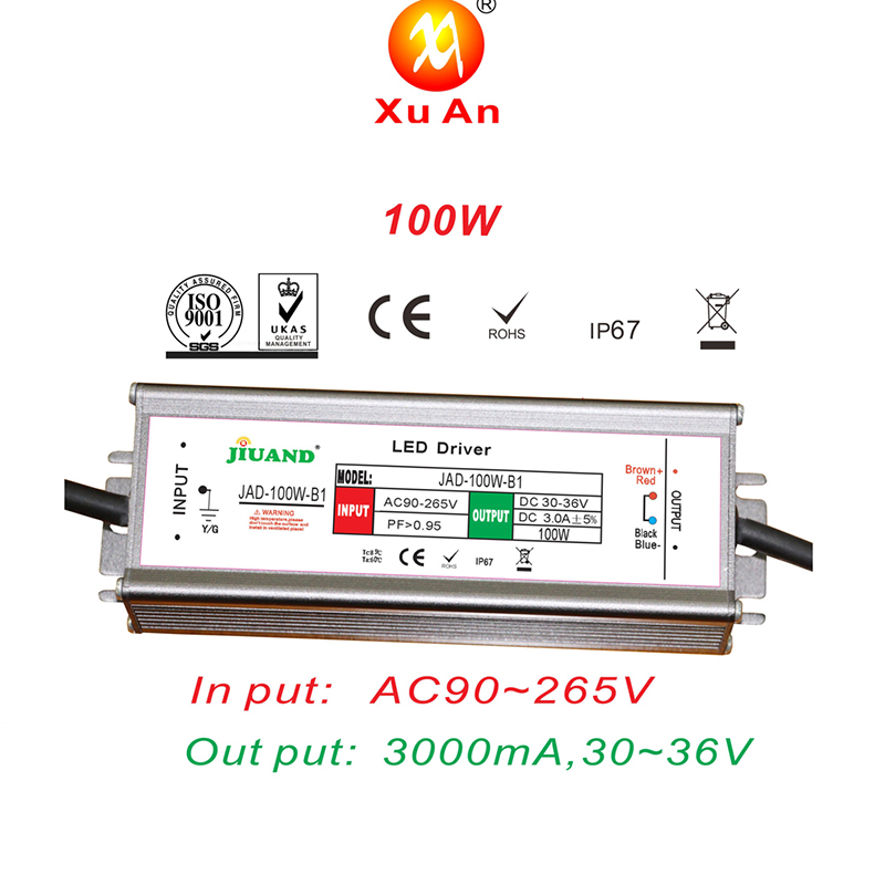 Constant current 12v 15v 24v 48v led power supply IP65 waterproof 100W LED Driver