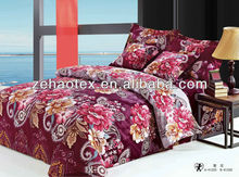 Rich queen size burgundy with a big bunch of flowers please 3d 100% cotton effect wedding duvet cover