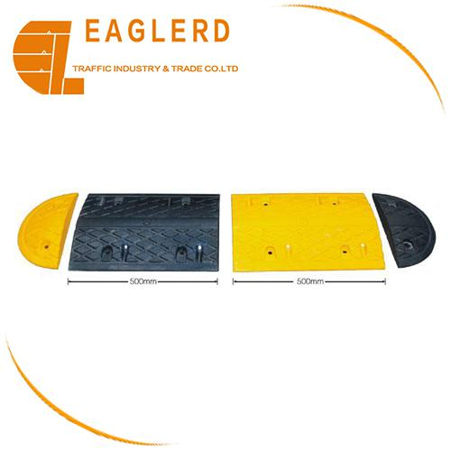 reflective safety speed rubber road hump