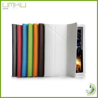 With OEM service for ipad 3 leather case Strong Magnetic,wake up/sleep function for ipad case,computer case