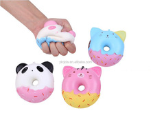 Promotional Gifts Colorful Scented Slow Rising Cute Squeeze Donut Shape Sress Toy