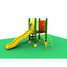 Unique Design Attractive Kids Outdoor Play Center Children Park Plasticc Play Slides