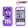 purple color 3d mm beans cartoon printing elastic flexible silicone smart phone case