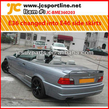 For BMW E36 changed into E46 style FRP side skirts