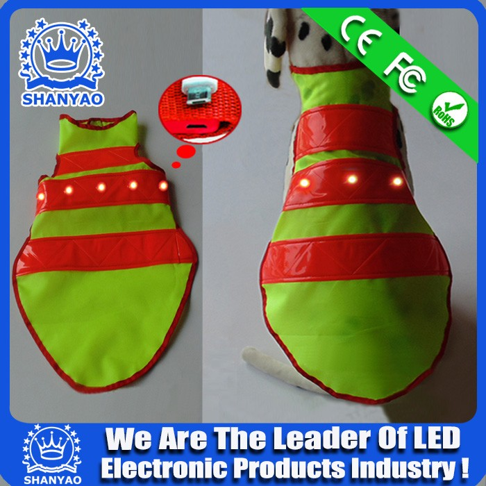 Hot Selling USB Rechargeable LED Dog Coat For Safety