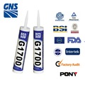 Clear silicone waterproof sealant marine adhesive
