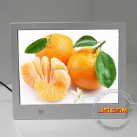 Hot design 8inch multifunction digital photo frame with video loop mp3 music photo slideshow for promotional gifts
