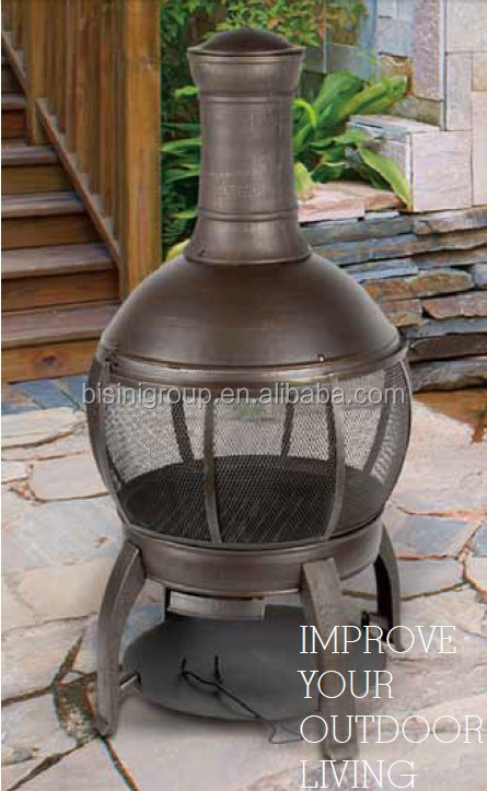 47'' cast iron & steel chimenea (BF10-M698)