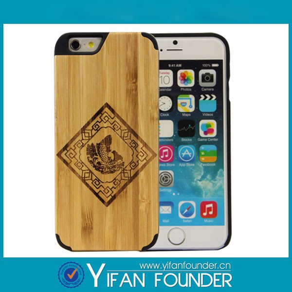 Wooden sublimation mobile phone case/cover for iphone 6
