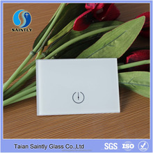 Smart silk screen printing tempered touch switch crystal glass panel