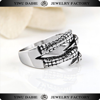 Hot sale fashion stainless steel claw ring jewellry wholesale