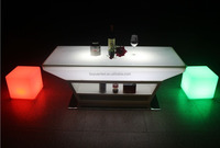Stailess stell illuminated led bar furniture ktv led bar table