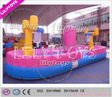 Lilytoys! Newest customize pvc tarpaulin colorful inflatable basketball hoop inflatable sport game for kids and adult