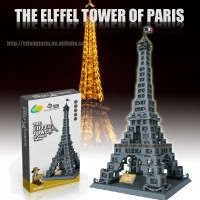 Educational Elffel Tower plastic building block toys,building block for kids