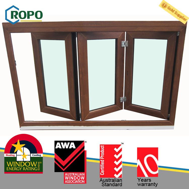 Insulated uPVC/PVC Double Glazed Sliding Folding Window Design