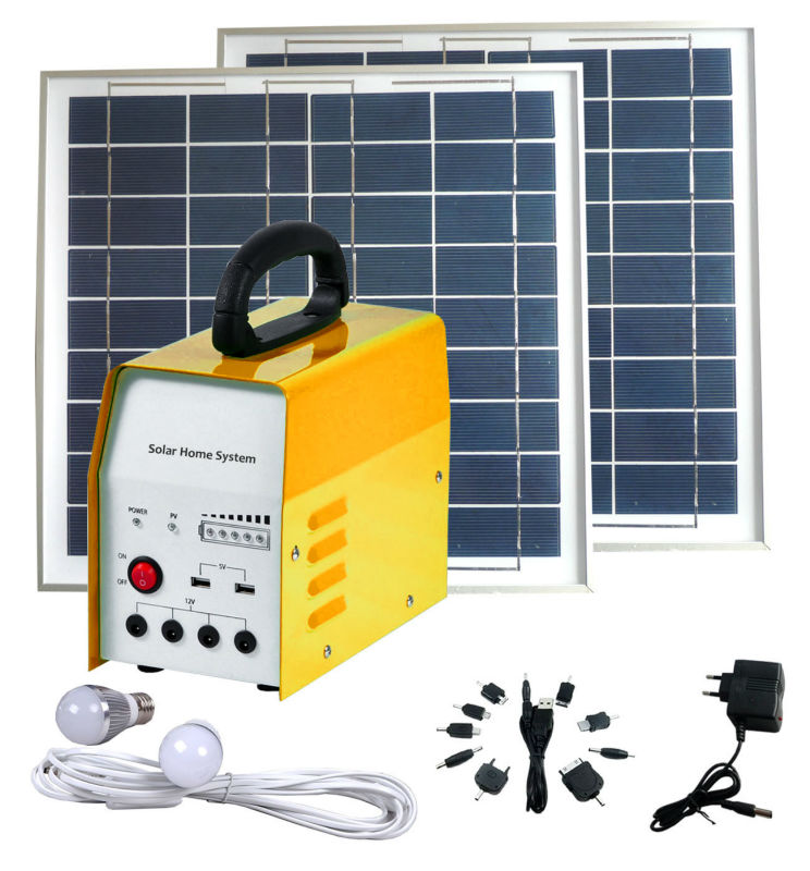 solar home lighting system 6W