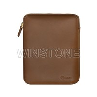 Zipper Closure Genuine Leather Tablet Cases