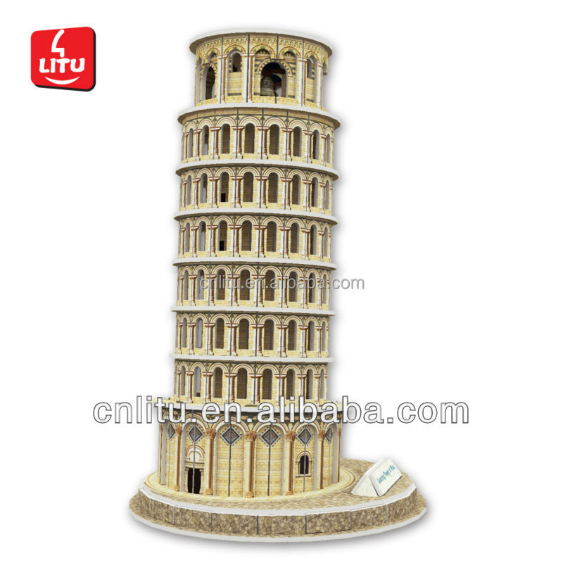 3D PAPER PUZZLE DIY ARCHITECTURE_Leaning Tower Of Pisa