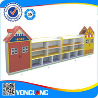 Latest kindergarten kids toy storage cabinet set, kids furniture (House-shaped No.YL-FW0011)