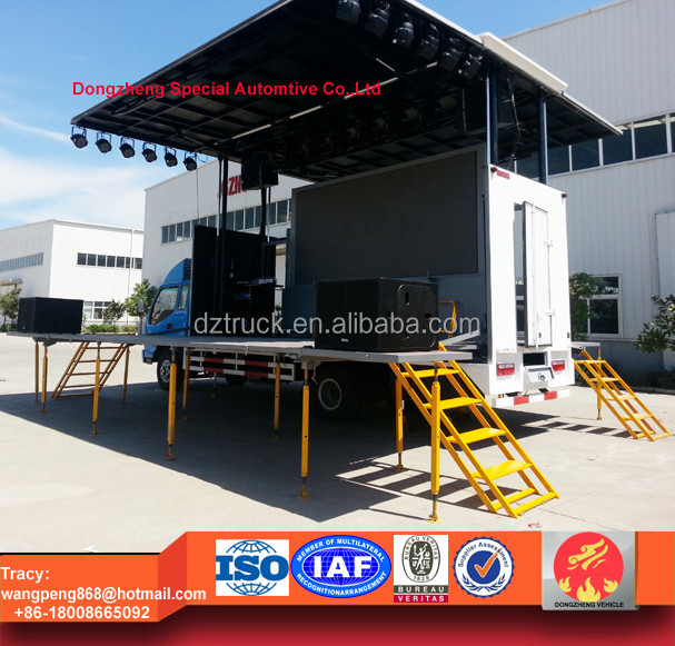 Good price 28 metre square mobile stage truck for roadshow and advertising