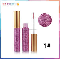 OEM cosmetics shiny liquid glitter eyeshadow eye liner makeup private label glitter liquid eyeliner eyeshadow