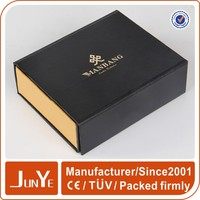 Black matte packaging promotion stacking paper boxes craft