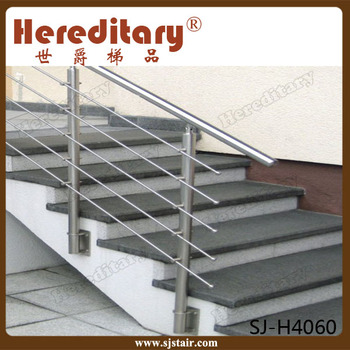 wall mount removable stainless steel rod stair handrail