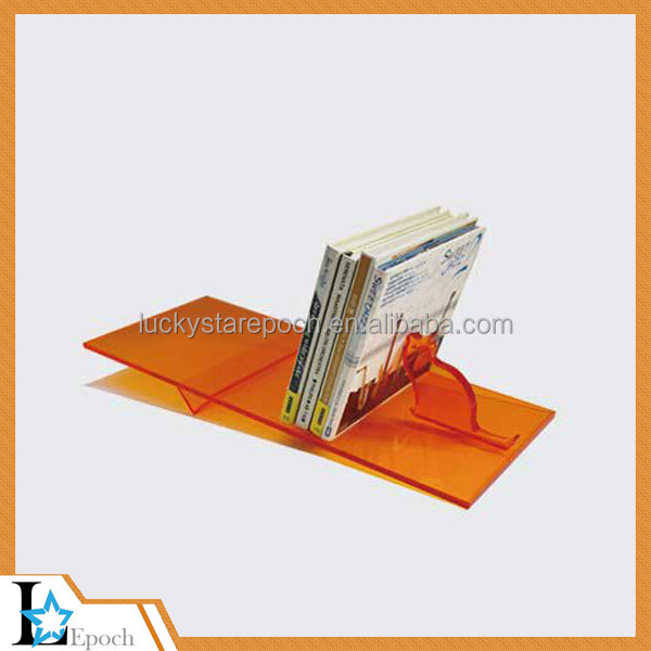 Best price A4 acrylic brochure display holder/simple design high quality acrylic desk brochuredisplay stand made in China