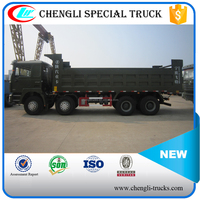 china factory 55 tons loading 30cbm dump body 12 wheels 8*4 type right hand drive shacman tipper trucks for sale