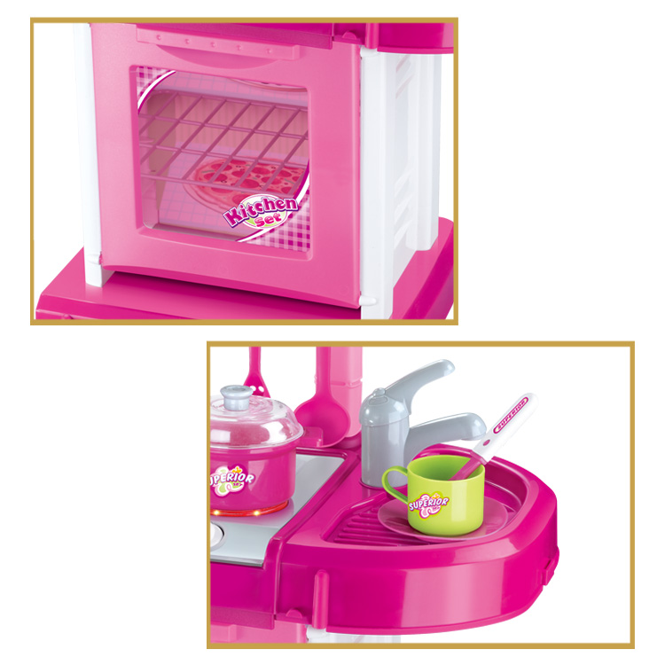 Hot sale preschool pretend play toys kids kitchen set toy for girls