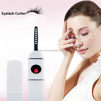 Portable Curling Manual cosmetic Make up Tool Plastic Electric Heated Eyelash Curler