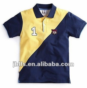 latest styles of children short sleeve polo shirt