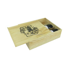 Customized wooden wine box with handle