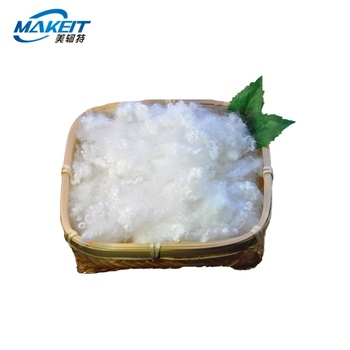 Makeit Factory Lowest Price 3 7 15Dx32 64mm White Color Virgin Recycle polyester staple fiber for filling