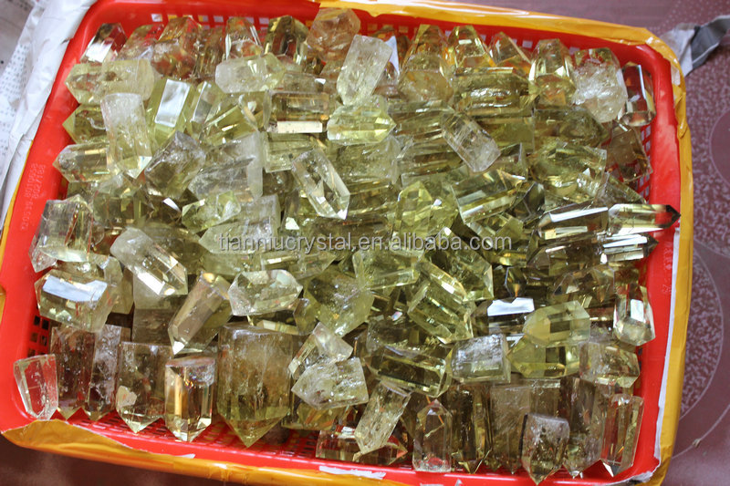 NATURAL RAINBOW CITRINE QUARTZ CRYSTAL POINTS HEALING Wholesales Price
