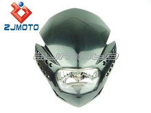 Dirt bike Headlight Off Road Motorcycle Universal LED Vision Headlight H4 Headlight 7 Colors