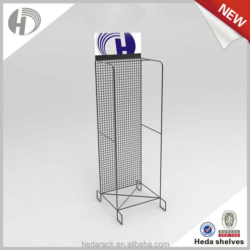 Durable multi-function wire grid beverage display rack