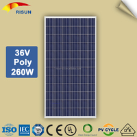 72 cell Poly 260 Watt Solar Panel for Home Electricity
