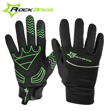 ROCKBROS Winter Riding Guante Ciclismo Bike Full Finger Gloves Cycling Gloves Windproof Waterproof Bicycle Gloves Touch Screen