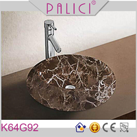 Chaozhou manufactory marble pattern design bathroom face basin