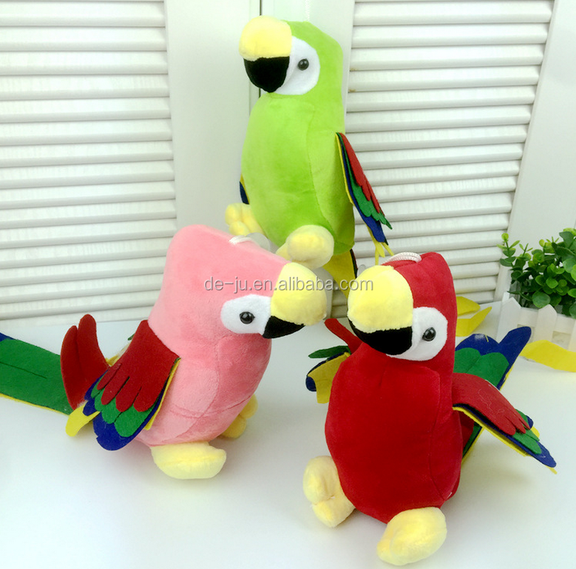 Long Tail Multicolored Parrots Stuffed Toy Dodo Bird