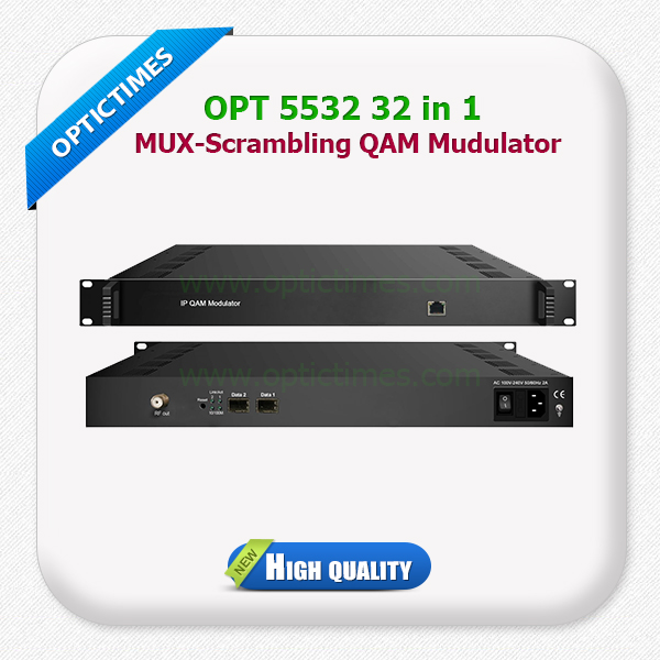 32 IP QAM (DVB-C) modulating channels dvb c modulator