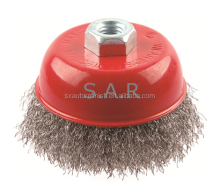 3/4inch Crimped Carbon Steel Wire Cup Brush/Quickly remove rust,scale and more with this wire cup brush