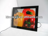 lcd digital photo frame 17'' wall mounted HD 1280*1050 perfect home/hotel decoration