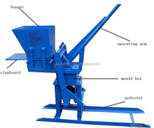 Low Cost Easy operation manual soil / mud brick making machine for sale