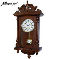 Classcal Rectangular Wooden Wall Pendulum Clock