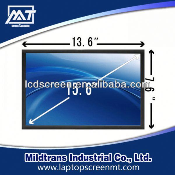100% original replacement Laptop LED/lcd screen LTN156AT01-B04 w960i lcd screen