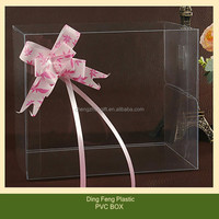 OEM Eco Friendly PVC Plastic Square Clear Box